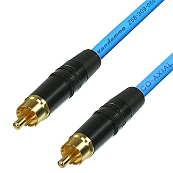 Cable coaxial de vídeo y audio digital SPDIF RCA a RCA. Cable de teléfono coaxial