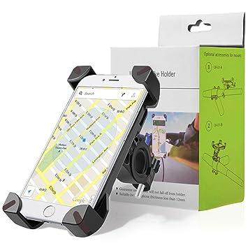 Soporte de bicicleta para teléfono, 360 Cuna de teléfono móvil giratorio con soporte de correa