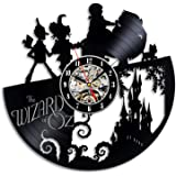 The Wizard Of OZ Vinyl Record Wall Clock - Decorate your home with Modern Art - Gift for kids, girls and boys - Win a prize for a feedback