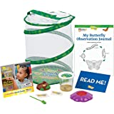 Insect Lore Butterfly Garden: Original Habitat and Live Cup of Caterpillars with STEM Butterfly Journal – Life Science & STEM