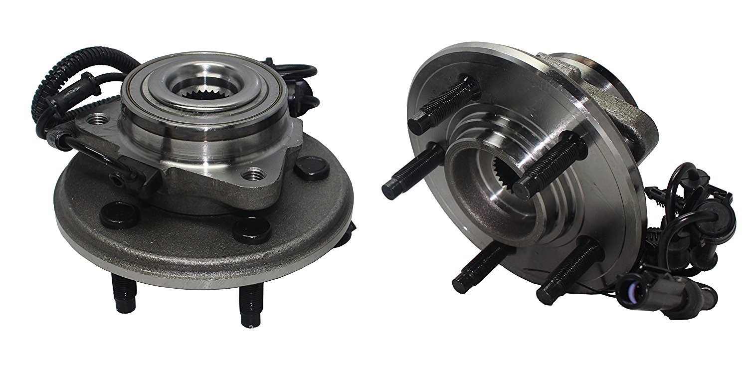 Brand New (Both) 2 Front Wheel Hub and Bearing Assembly - 5 Lug W/ ABS (Pair) - 2006-2010 Ford Explorer - [2007-2010 Explorer Sport-trac] - 2006-2010 Mountaineer by Detroit Axle