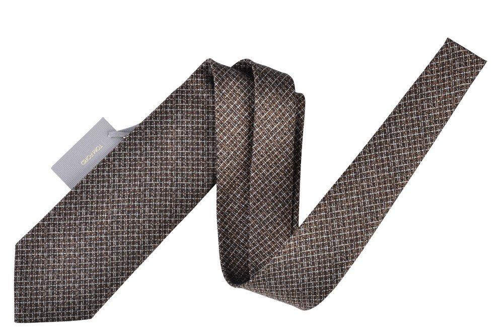 Tom Ford Copper Check Neck Tie