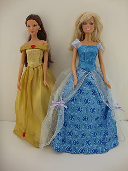 A Pink Princess Gown with Pearls and Jewel Details Made to Fit the Barbie Doll