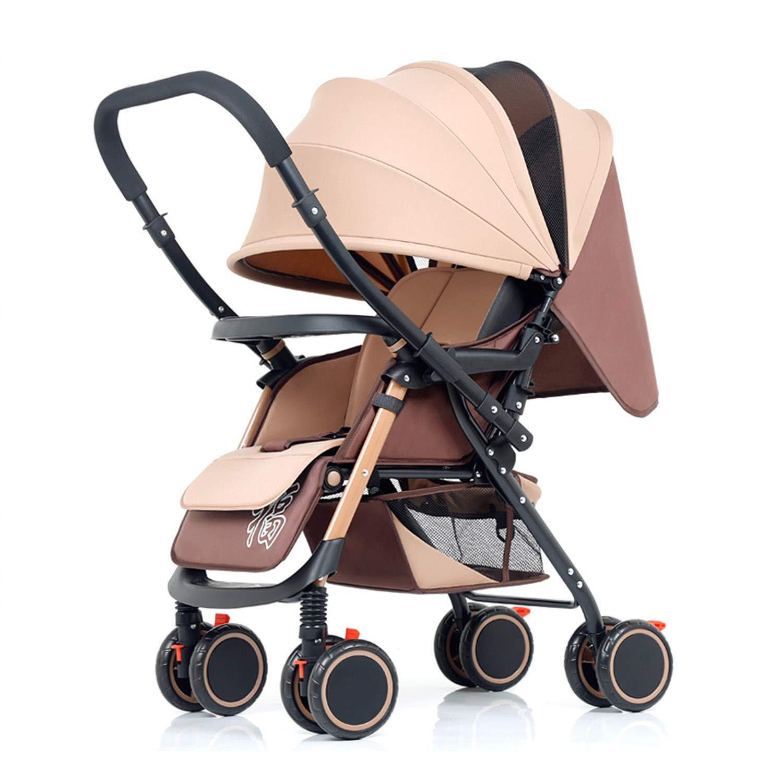 ベビーカート 軽量折りたたみ 乳母車 座ってうそをつくことができる バギー 双方向の実装 四季のユニバーサル   B07Q823RFX