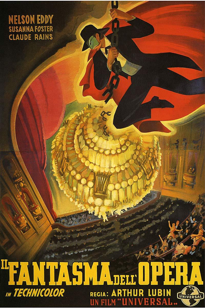 American Gift Services - Il Fantasm Dell Opera The Phantom of The Opera Italian Vintage Horror Movie Poster 3-24x36