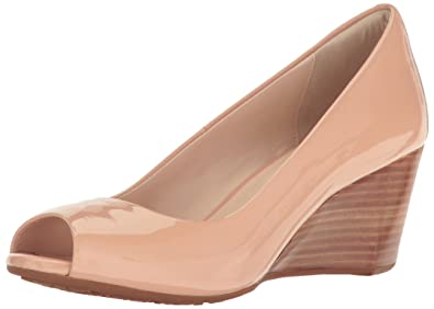 Cole Haan Women's Sadie OT 65mm Wedge Pump, Nude Patent, ...