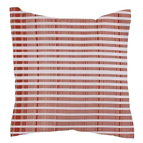 Hans-Textil-Shop Almohada de 40 x 40 cm Rayas Blanco Terra ...