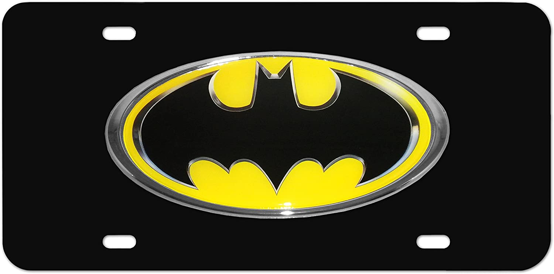 Elektroplate Batman Yellow Oval Chrome Emblem