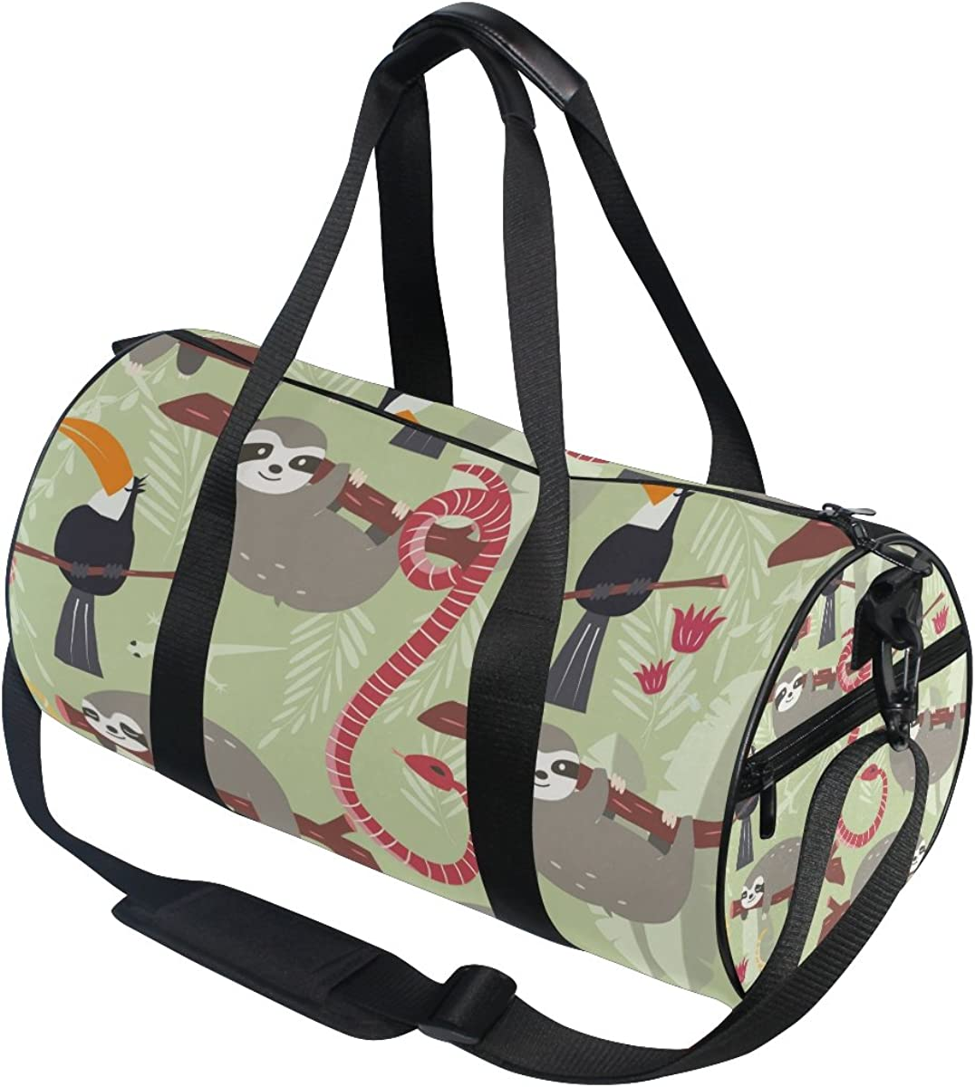 Evolutions Cute Baby Sloth Tree Floral Flowers Travel Duffel Bag Sports Gym Bag For Men