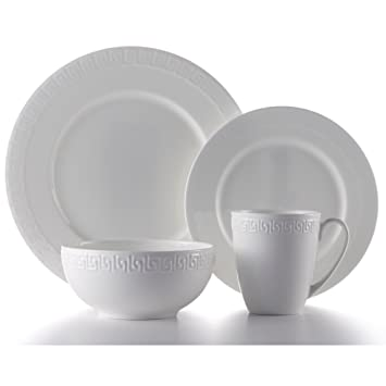 Roscher 32-Piece Corfu Bone China Microwave & Dishwasher