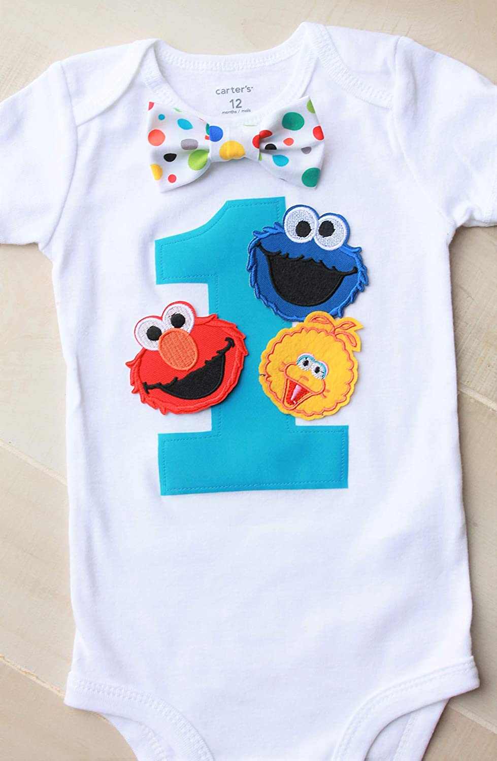 Sesame Street Birthday Outfit Elmo Birthday Outfit Cookie Monster Birthday Outfit