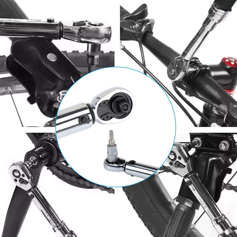 1-25 Nm Drehmomentschl/üssel-Set Torx und Sechskant-Stecknuss-Werkzeug 1//4 Zoll Fahrrad-Reparaturwerkzeug WiMas 10-teiliges Fahrrad-Drehmomentschl/üssel-Set