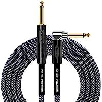 KIRLIN Cable de instrumento de ángulo recto a recto, ca, 20 feet