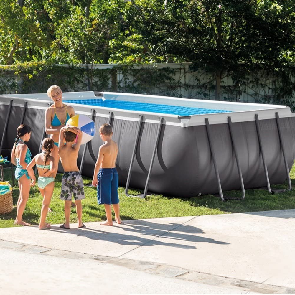 Intex Ultra Frame Piscina Desmontable, 17.203 litros, Gris, 549 x ...