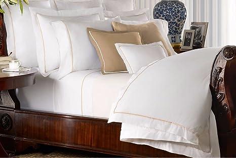 Ralph Lauren Home Palmer blanco y bruñido gamuza de marrón ...