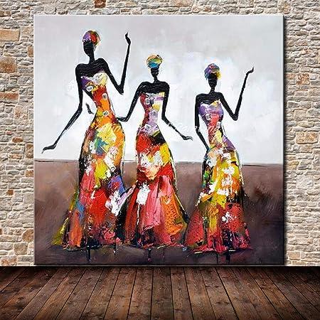 Pintura Al Óleo Pintada A Mano Sobre Lienzo,Mujer Abstracta En Un ...