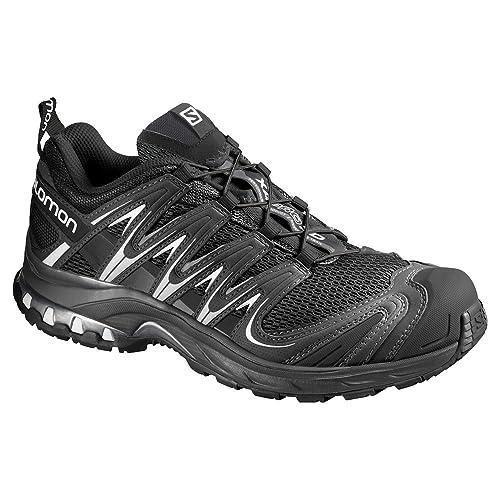 Salomon L35681200, Zapatillas de Trail Running para Mujer, Negro Black/White, 45 1/3 EU: Amazon.es: Zapatos y complementos