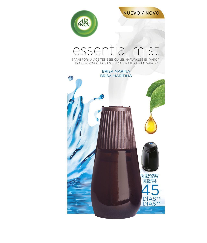 Air Wick Ambientador Essential Mist Recambio Fresh - 6 Paquetes de 1 Recambio - Total: 6 Recambios + 1 Ambientador Air Wick Essential Mist Completo Brisa ...