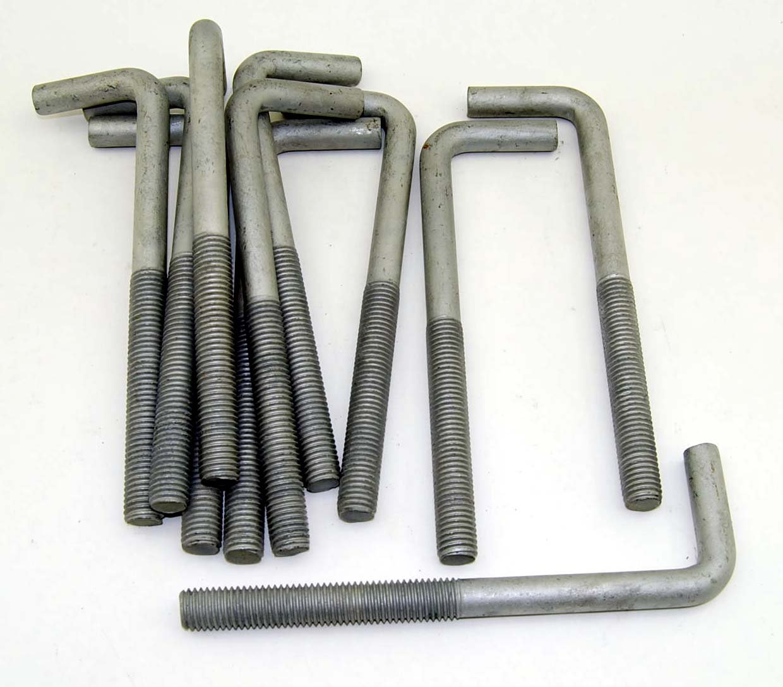 10 Concrete Bent Anchor Bolts 5 8 11 X 8 Hot Galvanized Amazon Com Industrial Scientific