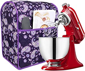 Kitchen Aid Mixer Cover, Dust Cover Compatible with 5-8 Quart Kitchenaid Mixers and Extra Accessories with Pockets for Extra Attachments TFC368