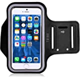 Tribe AB38 Water Resistant Sports Armband with Key Holder for iPhone 6, 6S (4.7-Inch), Galaxy S3/S4, iPhone 5/5C/5S, Bundle with Screen Protector