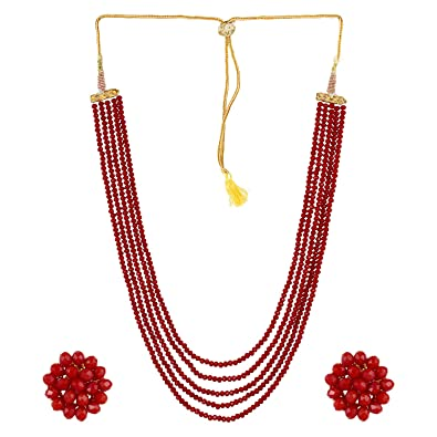 neck necklace beads cherry the glared jewelry for products red making