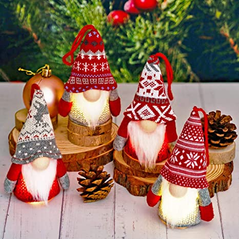Gnome Christmas Ornament; Buffalo Plaid Ornament; Pinecone Ornament; Holiday Decor