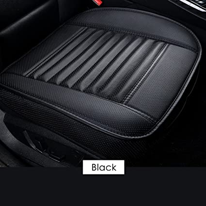 For Car Front//Black Seat Covers Breathable Leather Cushion Chair Mat Pad Protect