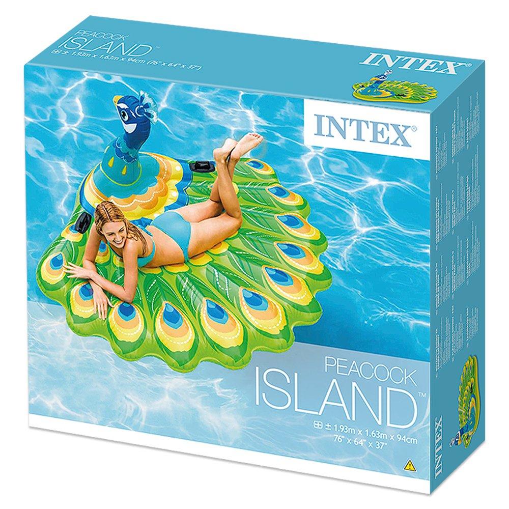 Intex - Colchoneta hinchable pavo real, 193 x 163 x 94 cm (57250): Amazon.es: Juguetes y juegos