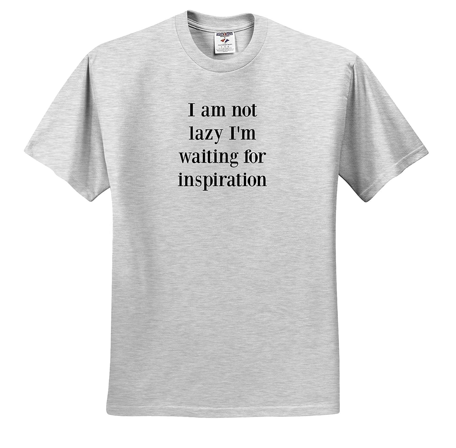 Adult T-Shirt XL ts/_319427 Image of I Am Not Lazy Im Waiting for Inspiration Quote 3dRose Gabriella-Quote