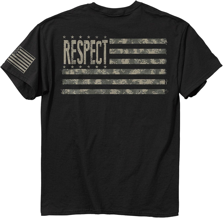 Buck Wear Men' Respect Digital Cotton T-Shirt, Black