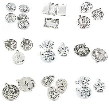 28 piezas de plata envejecida para hacer joyas, símbolos de ángel ...