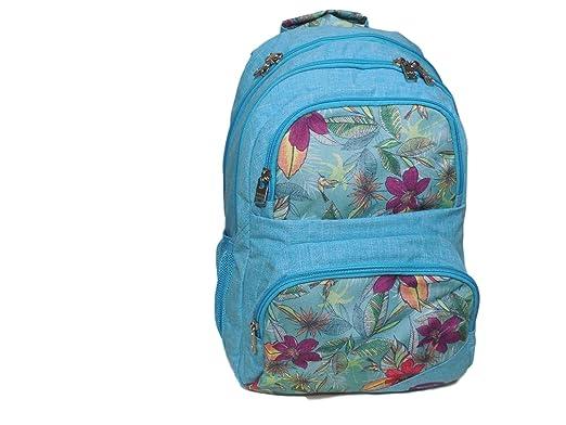 7f7b8d05f Roxy Women's Shadow Dream Poly Backpack, Hawaiian Paradise/Angel Blue