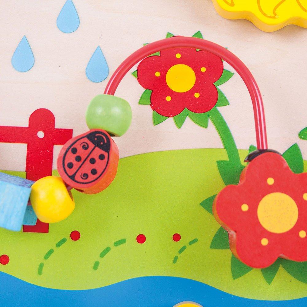 Bigjigs Toys Blumiges Aktivit/ätsstation