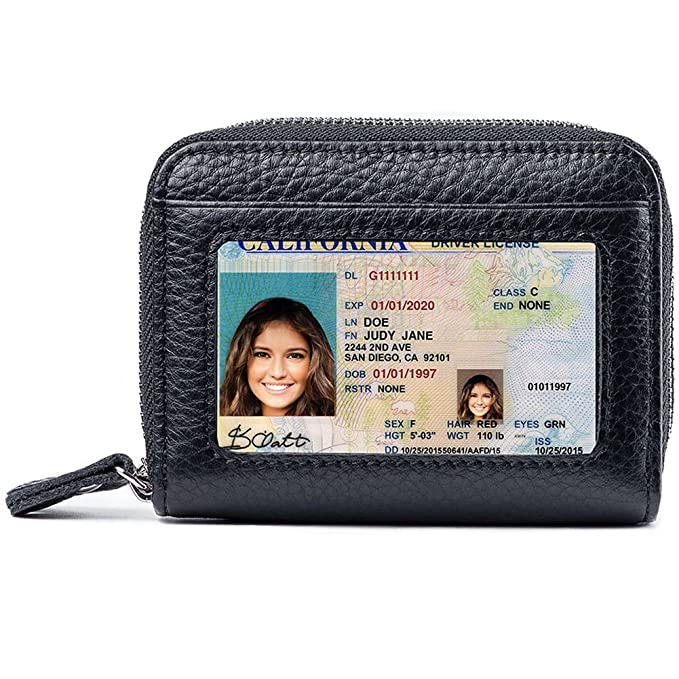 61193754c36a Image Unavailable. Image not available for. Color  RFID Blocking Leather  Wallet ...