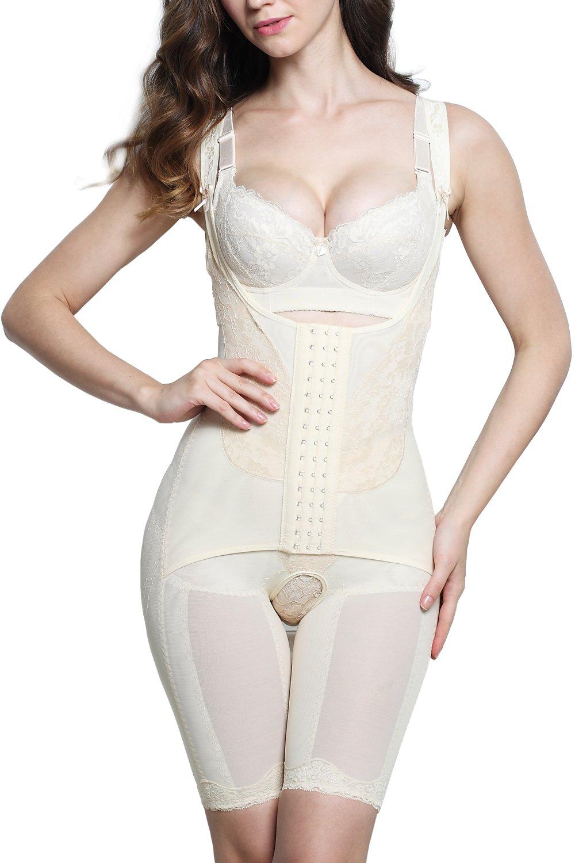 AMAGGIGO Shapewear Women's Full Body Shaper Waist Cincher Thigh Reducer Bodysuit Shapewear BODY577A1