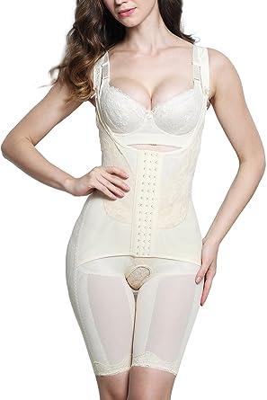 5762ad558 AMAGGIGO Shapewear Women s Full Body Shaper Waist Cincher Thigh Reducer  Bodysuit Shapewear