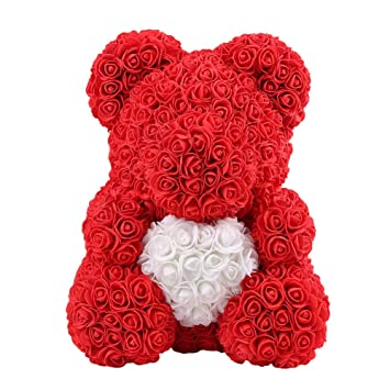 Soap Bath & Shower Rose Bear Toys Women Girls Flower Birthday Party Valentine Wedding Romantic Doll Gifts 2019 New Valentines Day Present