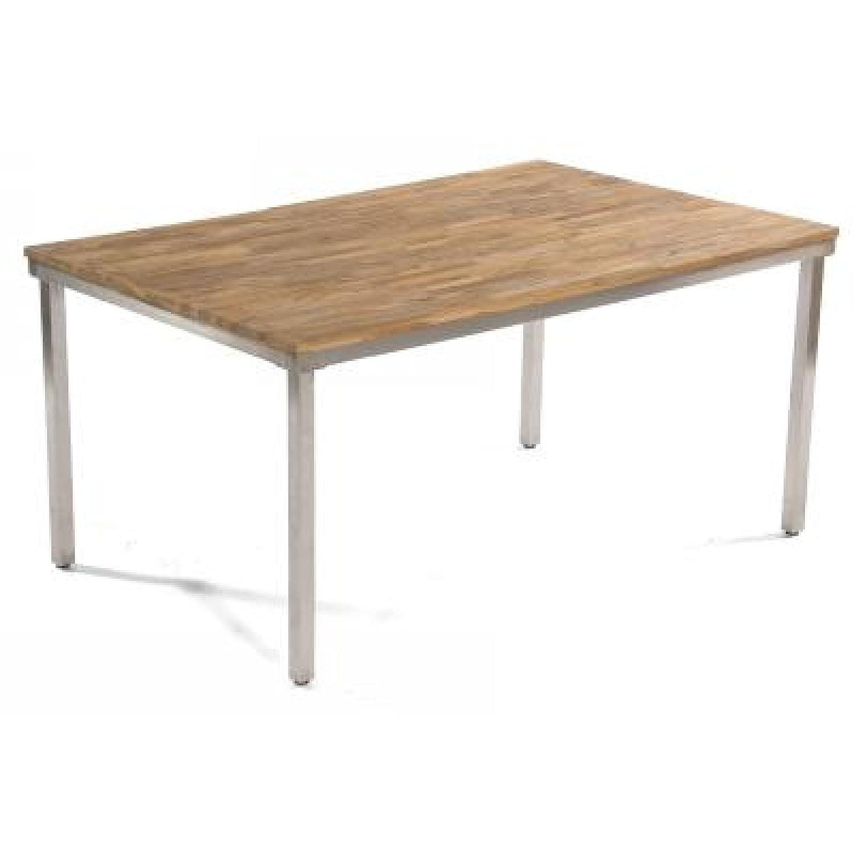 Sonnenpartner Tisch New Orleans 160 cm Edelstahl Old-Teak-Look