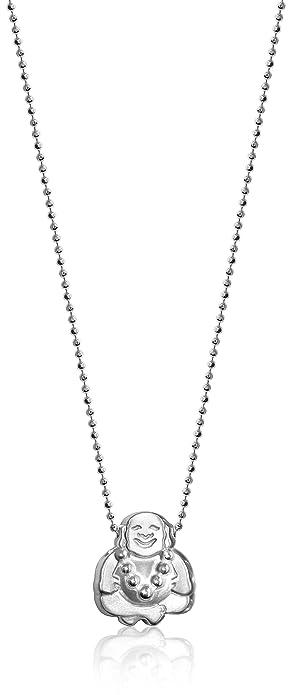 "2f320e38e Alex Woo ""Little Faith"" Sterling Silver Buddha Pendant Necklace"