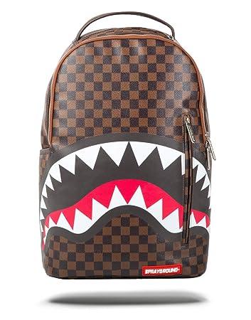 be5187ebc47e41 Amazon.com   Sprayground Sleek Shark In Paris 15 Inch Brown Backpack    Backpacks
