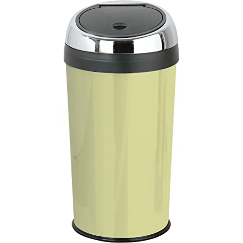 Premier Housewares Olive Green Push Top Bin 30 Litre