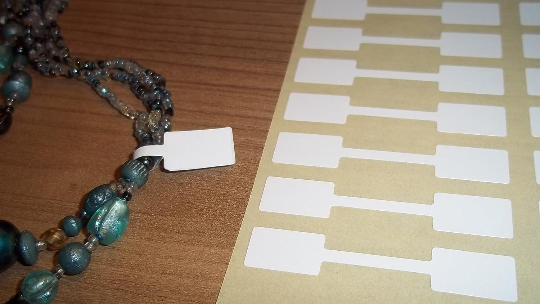 1000 Bianco 10 x 54mm Gioielleria Etichette Prezzo/etichette/Dumbell Adesivi Adesivo Rimovibile Facile Da Rimuovere Quando Numero Più lunghi Obbligatorio Forniti Su Fogli Disponibile Anche In Oro, Jewellery Labels