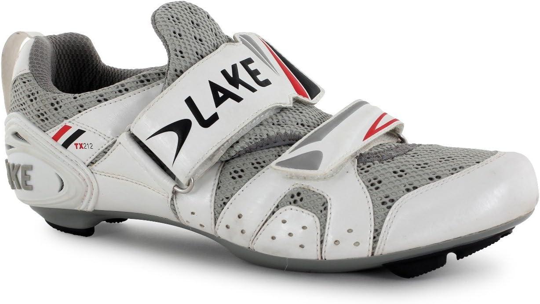 Lake TX212 – Zapatillas de triatlón zapatos blanco/negro 42: Amazon.es: Deportes y aire libre