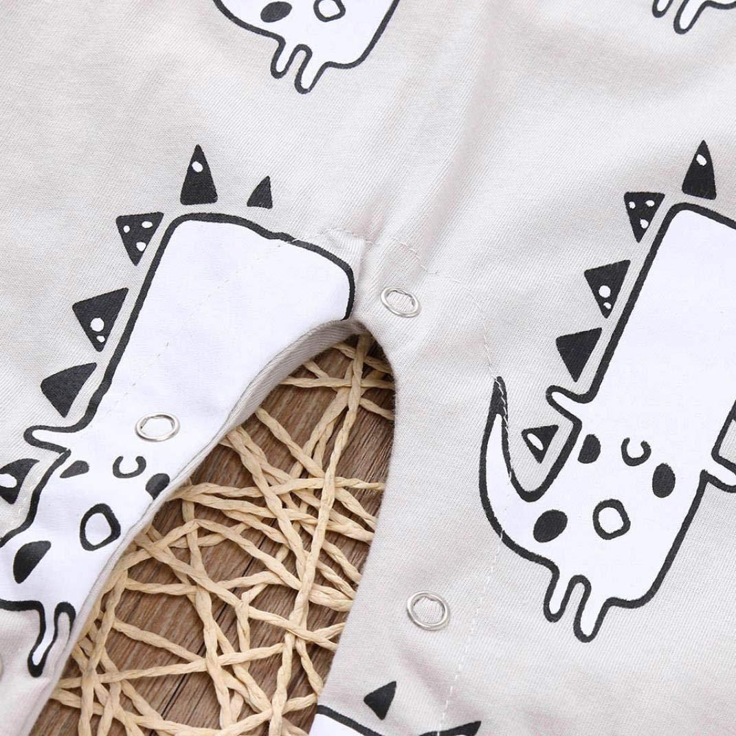 Hstore Baby Boys Girls 1PCS Romper Sunlight Dinosaur Print Bow Jumpsuit Clothes HOT