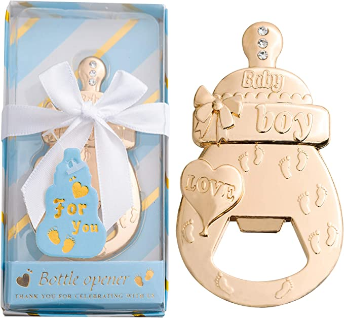 Amazon.com: 1 PCS Latest Baby Bottle Opener Favors Baby Shower Party Favors Shower Gifts Decorations Souvenirs for Guest (Blue, 1): Kitchen & Dining