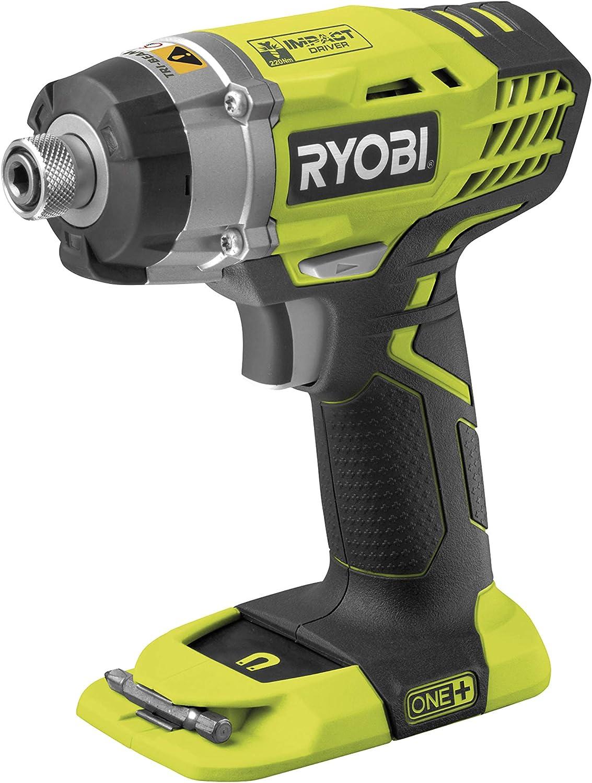 Ryobi RID1801M - Cortacésped de impacto sin cable 18 V Li-ion sin batería, color Negro, Amarillo