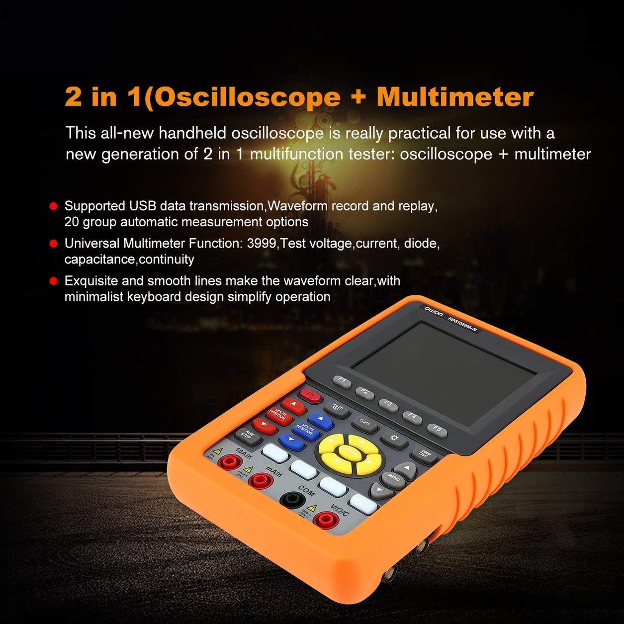 マルチメータ50MHzの500MSa / sのOWON HDS2061M-NシングルチャンネルハンドヘルドデジタルストレージオシロスコープSCOPEMETERスコープメーター B07KTSXGFK