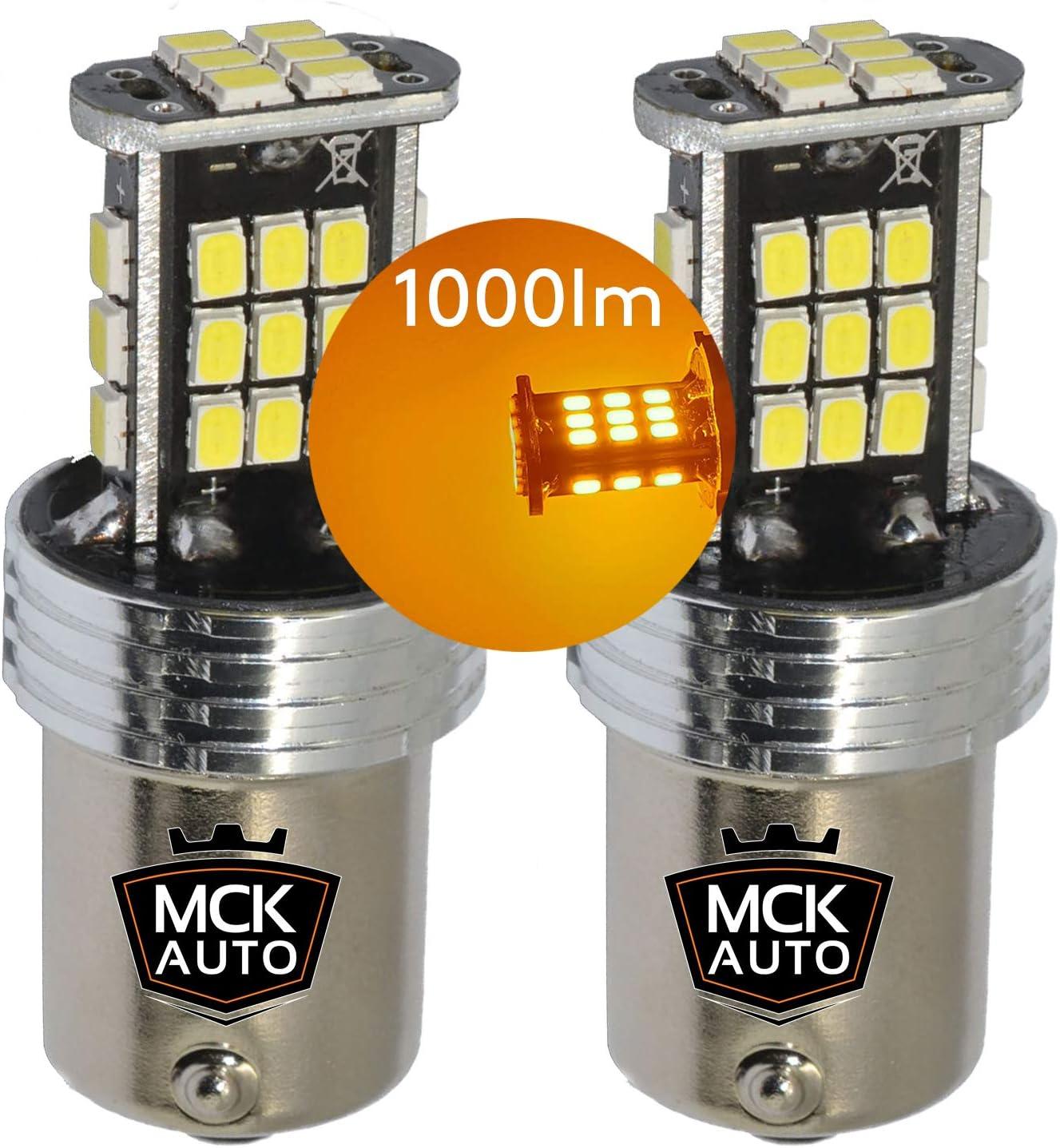 150 /° NATGIC BAU15S PY21W Pack de 2 Ampoules Clignotants LED Ambre Jaune Orange 3700LM 3030 45 SMD Canbus Sans Erreur Anti-Hyper Flash pour Clignotants LED Avant ou Arri/ère de Voiture