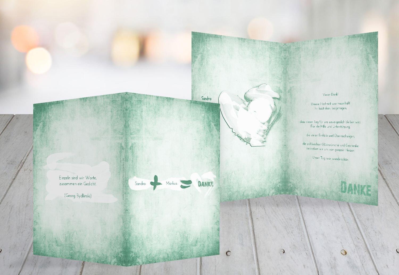 Kartenparadies Danksagung für Hochzeitsgeschenke Hochzeit Dankeskarte Du  Ich  Liebe 2, hochwertige Danksagungskarte Hochzeitsglückwünsche inklusive Umschläge   20 Karten - (Format  105x148 mm) Farbe  Matschgrün B01N13BZA7 | Niedr